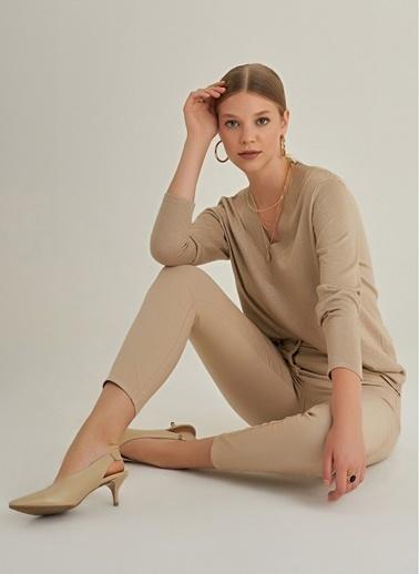 NGSTYLE Skinny 5 Cepli Basic Pantolon Camel